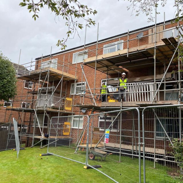 Concrete balcony repairs and replacement of corroded railings. Concrete was badly corroded and become dangerous so we have been instructed to act as main contractor in managing and undertaking the repairs, sealing of the concrete balcony and the supply and fitting of new railings. @encore_estate_management #triflex #nottinghambuilders #sika